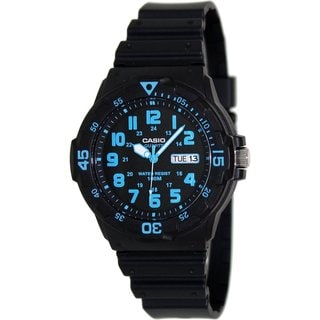 Casio Men's MRW200H-2BV Black Plastic Quartz Watch with Black Dial