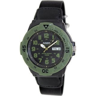 Casio Men's Sport MRW200HB-1BV Black Nylon Quartz Watch with Black Dial