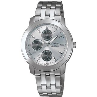 Casio Men's Core MTP1192A-7A Silvertone Stainless Steel Quartz Watch with Silvertone Dial