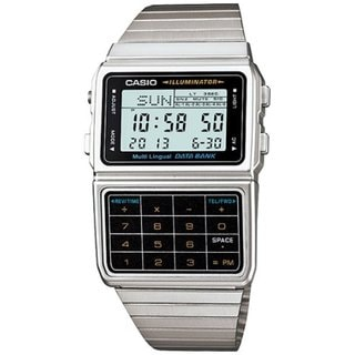 Casio Men's Core DBC611-1 Silvertone Stainless Steel Quartz Watch with Digital Dial