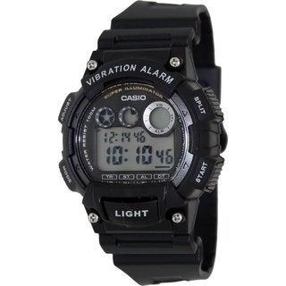 Casio Men's Core Black Resin Quartz Watch with Digital Dial
