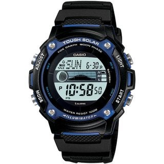 Casio Men's Core WS210H-1AV Black Resin Quartz Watch with Digital Dial