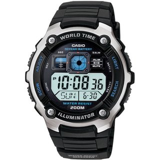 Casio Men's Core Black Resin Quartz Watch with Digital Dial