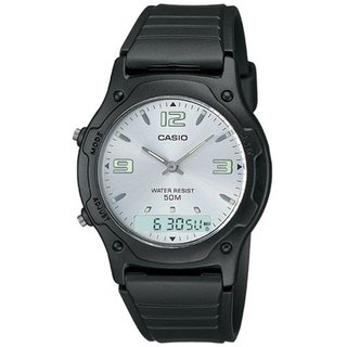 Link to Casio Men's Core  Black Resin Quartz Watch with Silvertone Dial Similar Items in Men's Watches