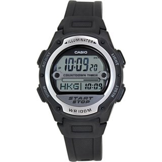 Casio Men's Core W756-1AV Black Resin Quartz Watch with Digital Dial