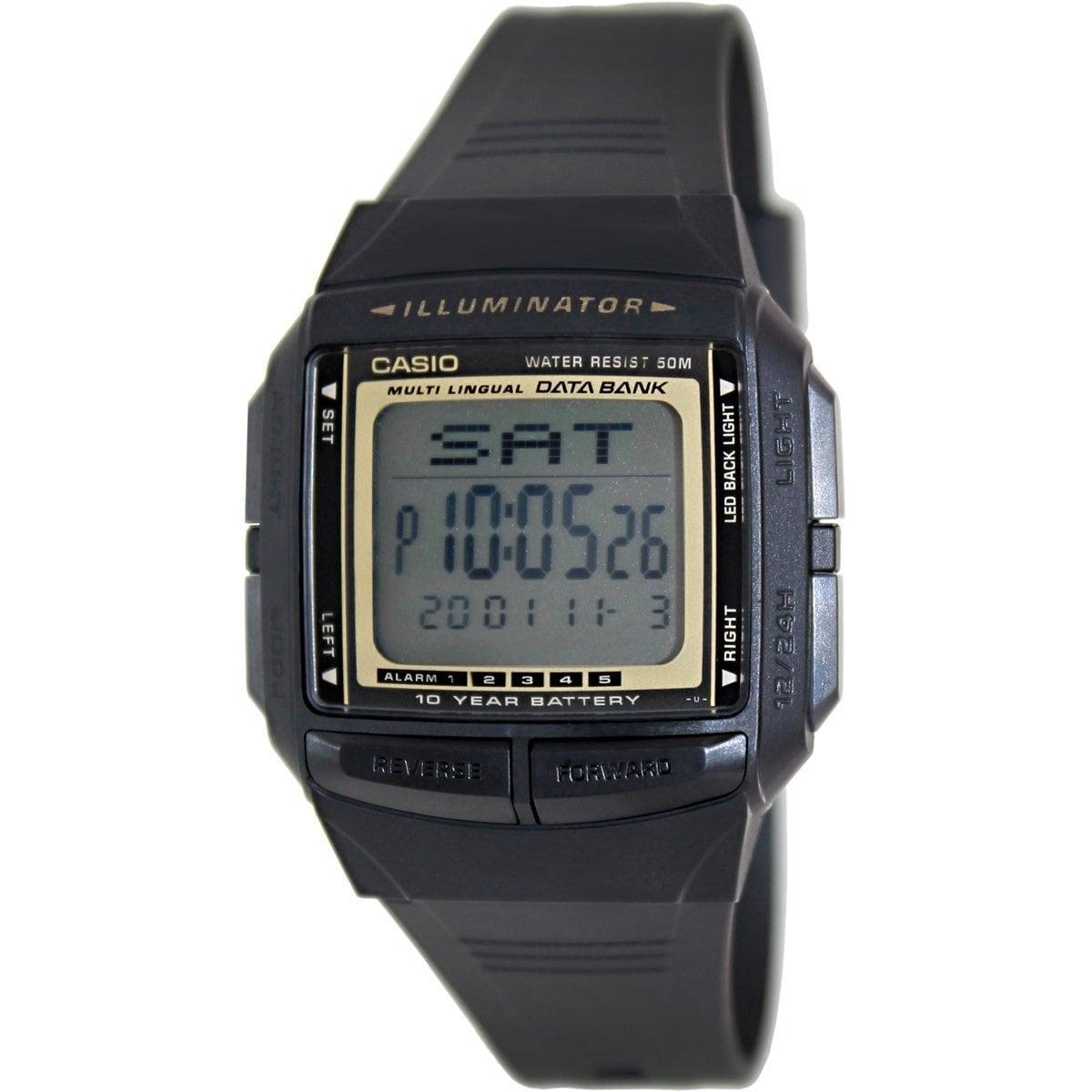 Shop Casio Men's Core Black Resin Quartz Watch with Digital  dOQS4