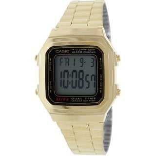 Casio Men's Core A178WGA-1A Goldtone Stainless Steel Quartz Watch with Digital Dial