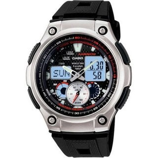 Casio Men's Core AQ190W-1AV Black Resin Quartz Watch with Black Dial