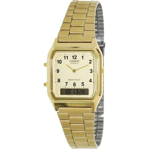 Casio Men's 'Classic' Analog-Digital Gold-Tone Stainless Steel Watch