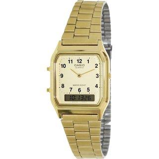 Casio Men's Core AQ230GA-9B Goldtone Goldtone Tone Quartz Watch with Goldtone Dial