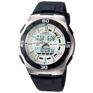 Casio Men's Core AQ164W-7AV Black Resin Quartz Watch with Digital Dial