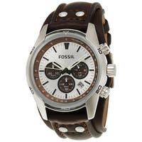 Fossil Men's Cuff CH2565 Brown Leather Quartz Watch