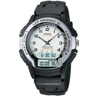 Casio Men's Core WS300-7BV Black Resin Quartz Watch with White Dial