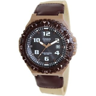 Casio Men's MRWS300HB-5BV Brown Nylon Quartz Watch with Black Dial