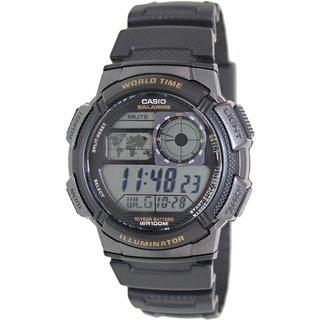 Casio Men's AE1000W-1AV Black Resin Quartz Watch with Digital Dial