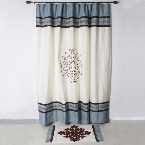 Saturday Knight Landon Shower Curtain and Bath Rug Set