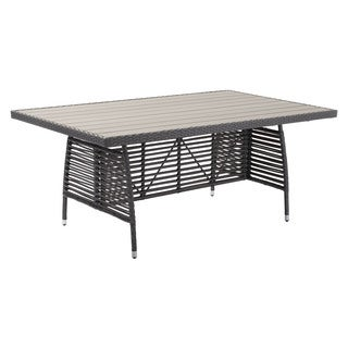 Sandbanks Grey Aluminum Dining Table