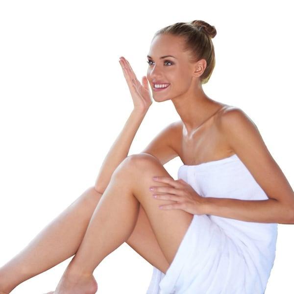 Amrapur Overseas Zero-twist Cotton White Unisex Bath Wrap