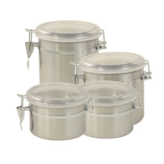 ExcelSteel Stainless Steel 4-piece Canister Set