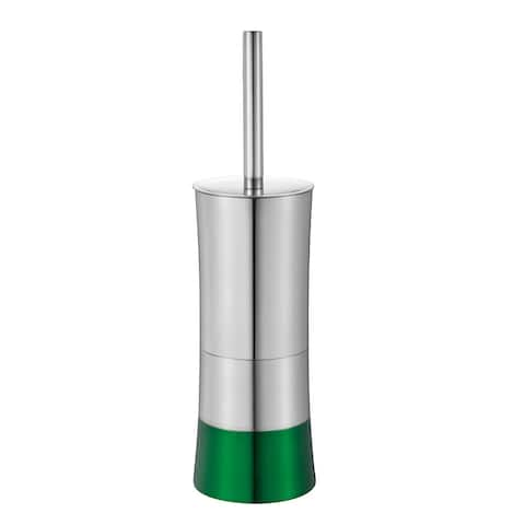 Shiny Colorblock Toilet Brush and Holder