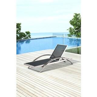 Zuo Metropolitan Brushed Aluminum Chaise Lounge