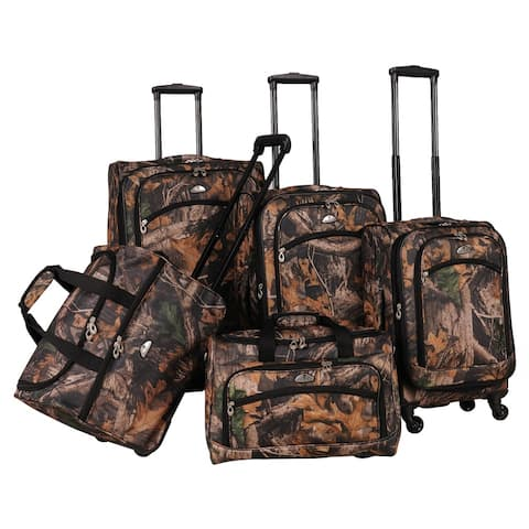 American Flyer Camo 5-piece Spinner Luggage Set - 28 inches high x 18 inches wide x 11 inches deep