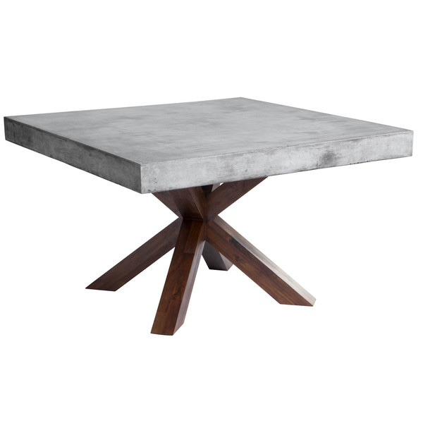 Shop Sunpan MIXT Warwick Square Stonetop Dining Table On Sale - Wood and stone dining table