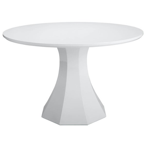 Sunpan 39 ikon 39 sanara white round small dining table free shipping today 16370645 Small white dining table