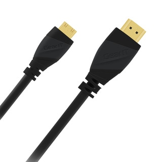 GearIT High-speed Mini HDMI to HDMI Cable, Supports Ethernet, 3D and Audio Return (Pack of 5)