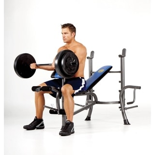 Marcy Standard Size Bench with 80-pound Weight Set