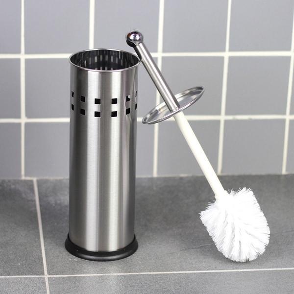Matte Stainless Steel Toilet Brush Holder with Brush