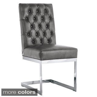 Sunpan 'Club' Cavalli Grey Nobility Dining Chair