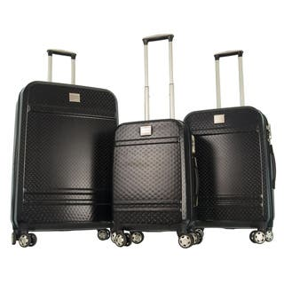 GABBIANO Texture Black Polycarbonate 3-piece Expandable Hardside 8-wheel Spinner Luggage|https://ak1.ostkcdn.com/images/products/9198466/GABBIANO-Texture-Black-Polycarbonate-3-piece-Expandable-Hardside-8-wheel-Spinner-Luggage-P16370656L.jpg?impolicy=medium