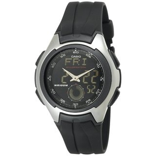 Casio Men's Core AQ160W-1BV Black Resin Analog Quartz Watch with Black Dial