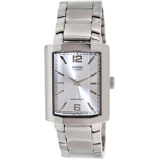 Casio Men's Core MTP1233D-7A Silvertone Stainless Steel Analog Quartz Watch with Silvertone Dial