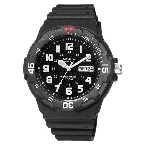 shop casio men 39 s core black resin analog quartz watch with black dial free shipping on orders