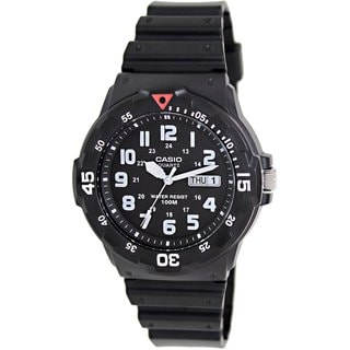 Casio Men's Core MRW200H-1BV Black Resin Analog Quartz Watch with Black Dial