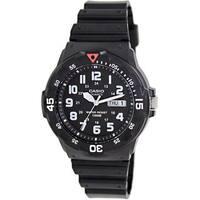 Casio Men's Core  Black Resin Analog Quartz Watch with Black Dial