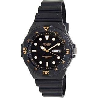 Casio Men's Core MRW200H-1EV Black Resin Analog Quartz Watch with Black Dial