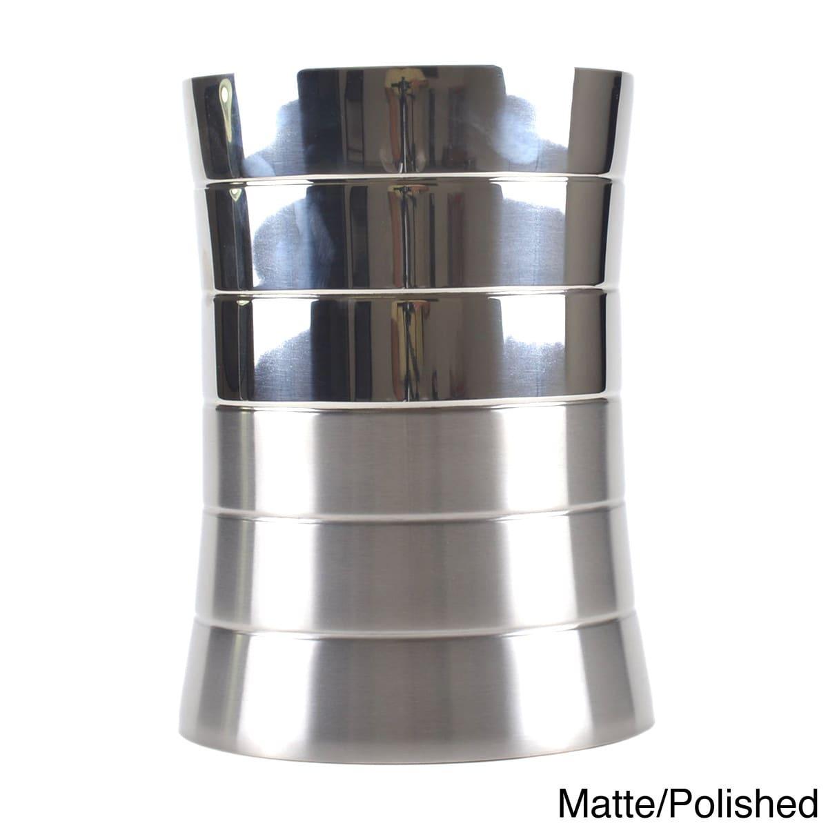 Enterprises 5-liter Stainless Steel Trash Can (Silver) (M...