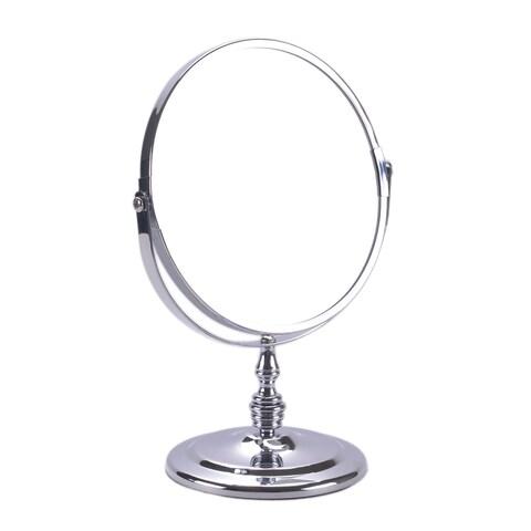 Round Chrome-plated Countertop/ Vanity Mirror - Chrome