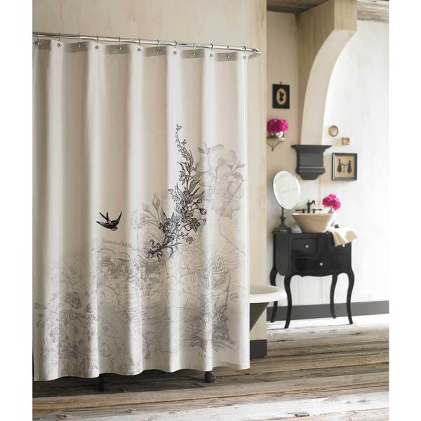 Amour Buttonhole-top Parisian Shower Curtain