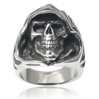 Vance Co. Men's Stainless Steel Grim Reaper Skull Ring