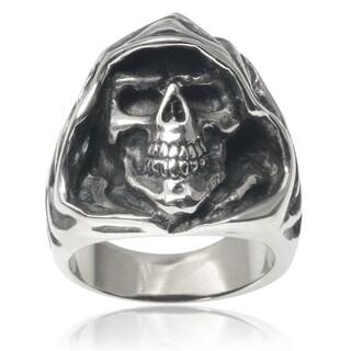 Vance Co. Stainless Steel Men's Grim Reaper Skull Ring