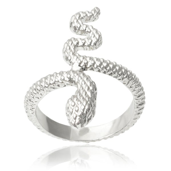 Journee Collection Brass Snake Midi Knuckle Ring. Opens flyout.