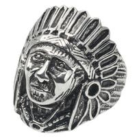 Vance Co. Men's Stainless Steel Native American Ring