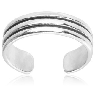 Journee Collection Sterling Silver Adjustable Toe Ring