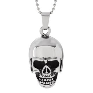 Vance Co. Men's Stainless Steel Skull Pendant