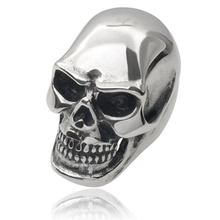 Vance Co. Men's Stainless Steel Large Skull Ring