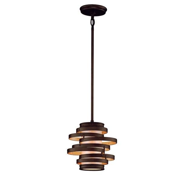 corbett lighting vertigo 1 light bronze mini pendant. Black Bedroom Furniture Sets. Home Design Ideas